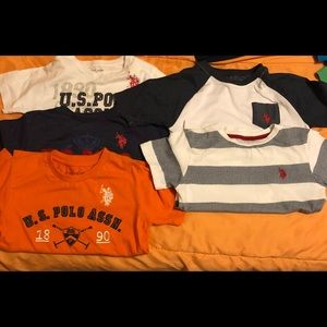 Set of 5 Boys Polo shirts. Sizes from 5/6 to 7